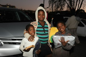 We partnered with Jerseys4Jozi, who handed out new sweaters for our customers. May 2013