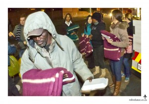 New blankets handed out by KPMG CSI